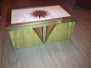 Satinwood Body Rosewood Front Panel with Zebra Inlay