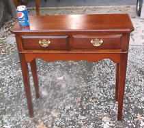 Small 2 Drawer Mahogany Console Table