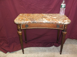 Small Marble Top Table with Drawer