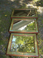 Set of 3 Mirrored Nesting Tables