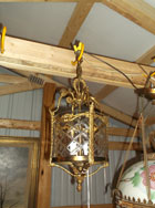 Brass-Glass Hanging Light