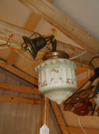 Victorian Hanging Painted Dome Light