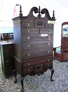2 Part Mahogany Highboy