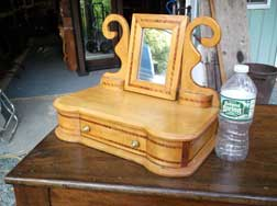 Inlaid Dresser Top Shaving Mirror