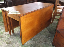 Period Tiger Maple Drop Leaf Table