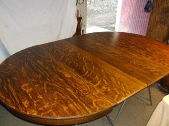 100 yr old table, new leaves, made up, aged and stained to match