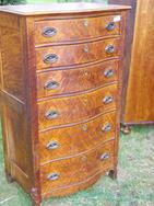Birds Eye Maple 6 drawer Lingerie Chest, stripped and refinished