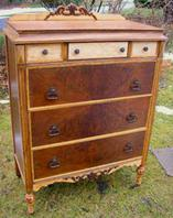Circa 1910 Tall Dresser restored AFTER