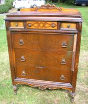 Circa 1910 Tall Dresser restored BEFORE