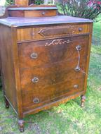 Circa 1920 Tall Dresser, stripped and refinished