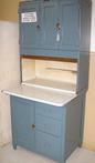 Narrow Hoosier Cabinet, stripped & refinished