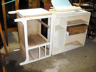 Seller's Oak Hoosier Cabinet