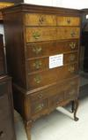 Tiger Maple Highboy dresser, circa 1900