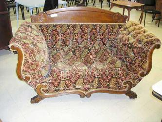 Upholstery Work on Folding Arm Loveseat