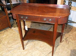 Mahogany Console or Hall Table w/Drawer